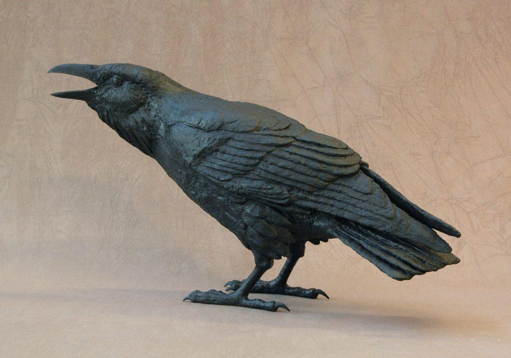 Raven XII C   Jim Eppler   Sculpture-Exposures International Gallery of Fine Art - Sedona AZ
