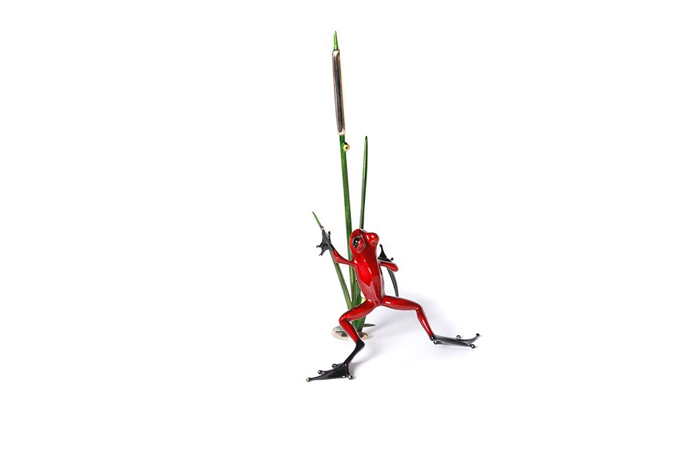 Cattail | Frogman | Sculpture-Exposures International Gallery of Fine Art - Sedona AZ