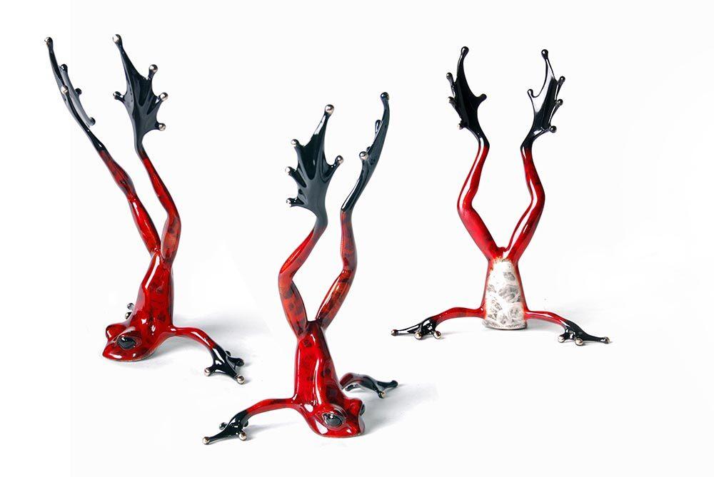 Head over Heels   Frogman   Sculpture-Exposures International Gallery of Fine Art - Sedona AZ