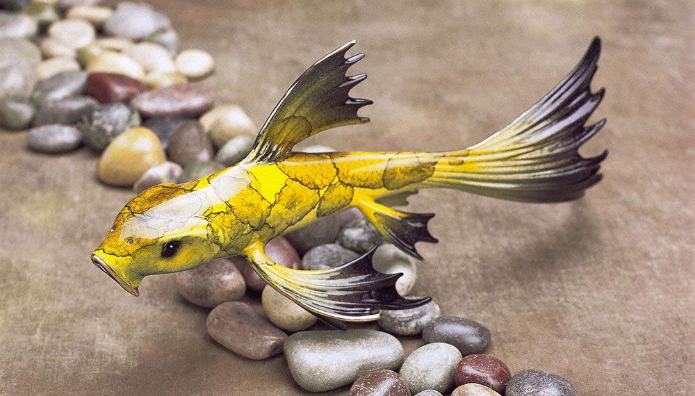 Mellow Yellow | Frogman | Sculpture-Exposures International Gallery of Fine Art - Sedona AZ
