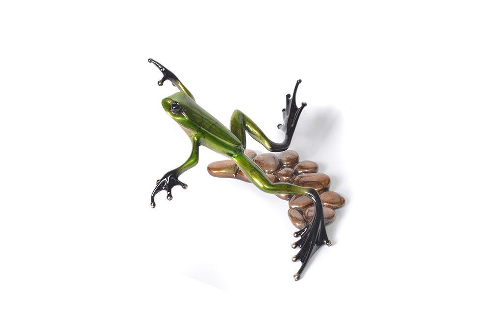 Stepping Stone | Frogman | Sculpture-Exposures International Gallery of Fine Art - Sedona AZ