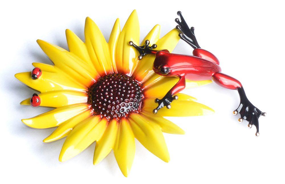 Sunflower | Frogman | Sculpture-Exposures International Gallery of Fine Art - Sedona AZ