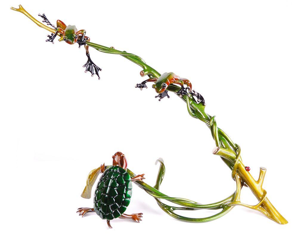 Turtle Creek | Frogman | Sculpture-Exposures International Gallery of Fine Art - Sedona AZ