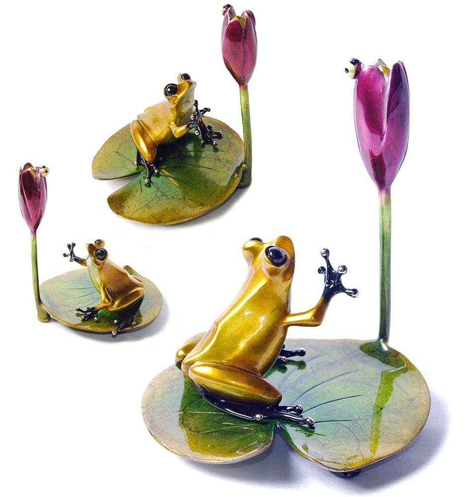 Water Lily | Frogman | Sculpture-Exposures International Gallery of Fine Art - Sedona AZ