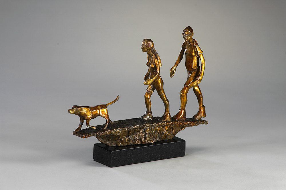 Finally Of Leash | Richard Pankratz | Sculpture-Exposures International Gallery of Fine Art - Sedona AZ