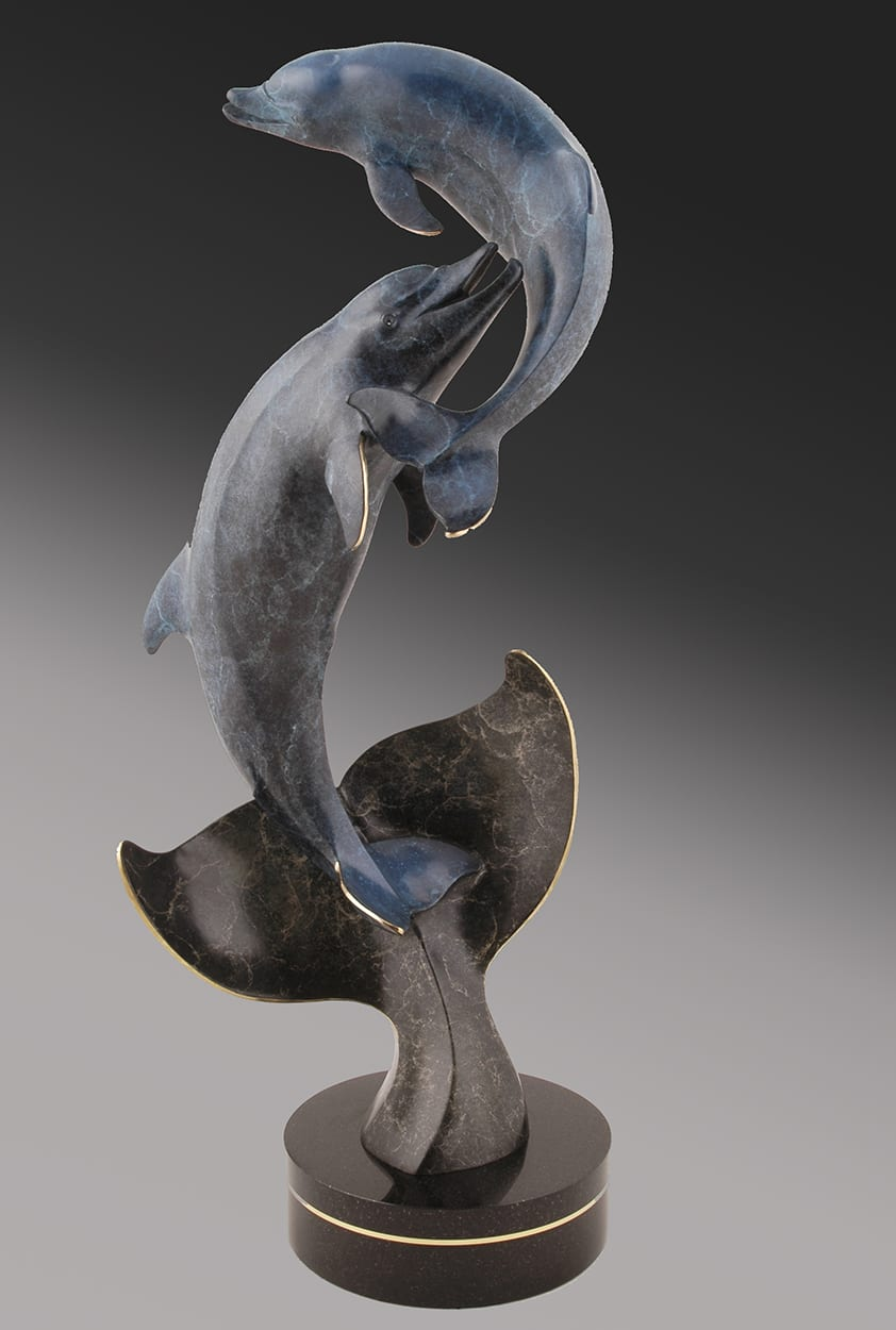 Whale's Tale | Jacques & Mary Regat | Sculpture-Exposures International Gallery of Fine Art - Sedona AZ