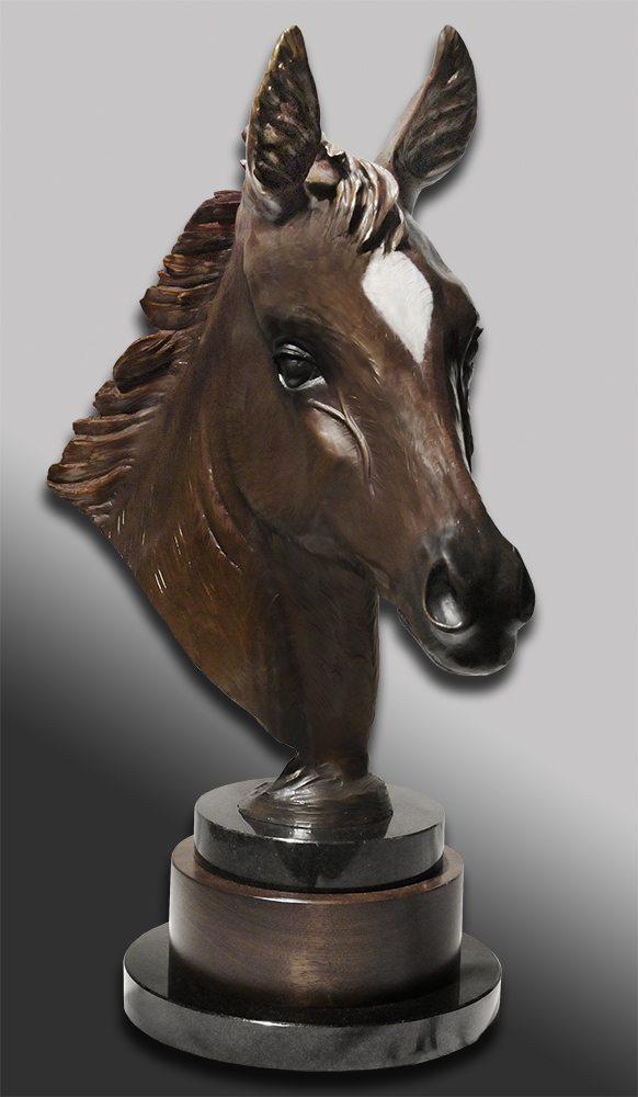 Spirit of Cheyenne Head Study | Diana Simpson | Sculpture-Exposures International Gallery of Fine Art - Sedona AZ
