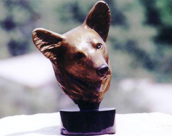 Corgi Bust | Diana Simpson | Sculpture-Exposures International Gallery of Fine Art - Sedona AZ