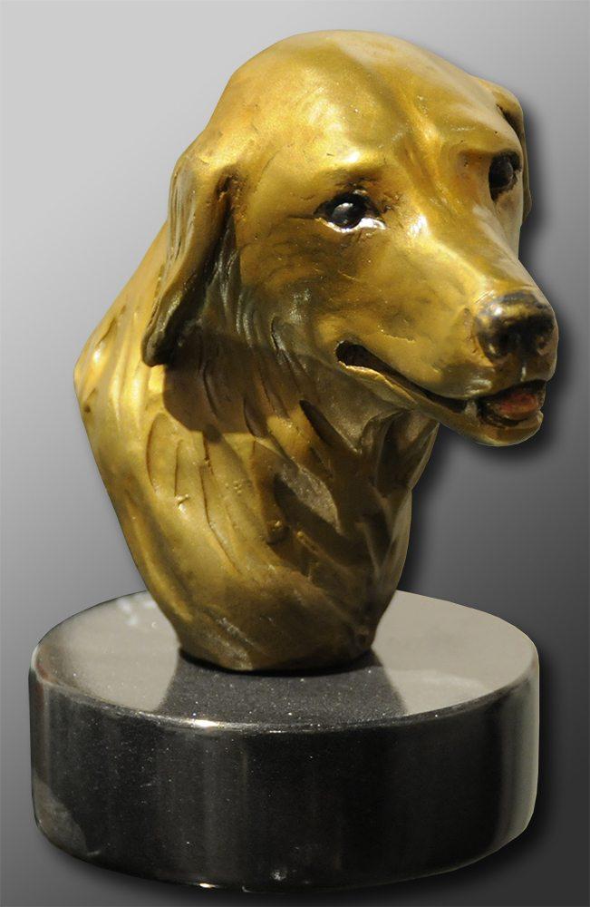 Golden Retriever Head Study   Diana Simpson   Sculpture-Exposures International Gallery of Fine Art - Sedona AZ