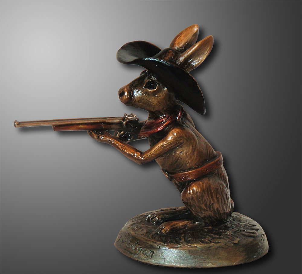 Shotgun Jack | Diana Simpson | Sculpture-Exposures International Gallery of Fine Art - Sedona AZ