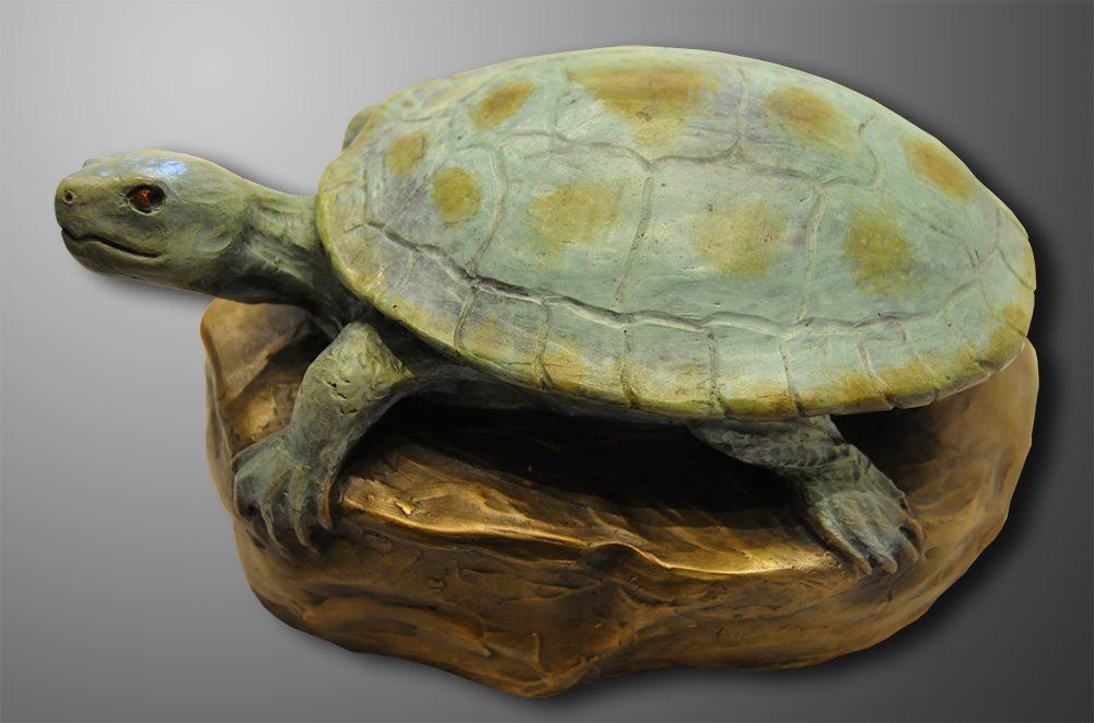 Sunning Turtle   Diana Simpson   Sculpture-Exposures International Gallery of Fine Art - Sedona AZ