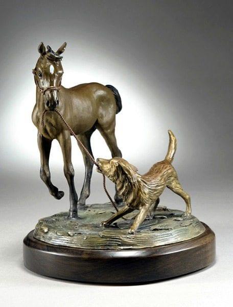 Test of Wills | Diana Simpson | Sculpture-Exposures International Gallery of Fine Art - Sedona AZ