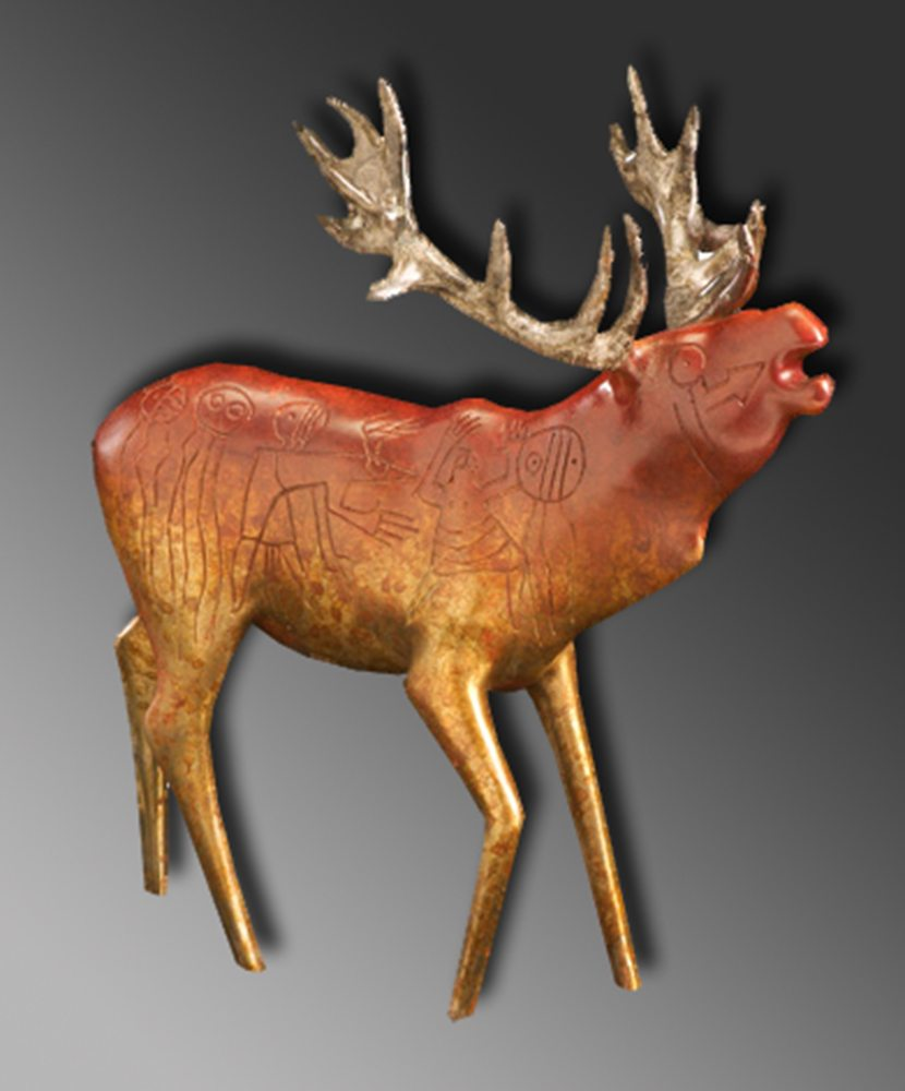 fb84f3b5a6 Red Stag   Gene & Rebecca Tobey   Sculpture-Exposures International Gallery  of Fine Art