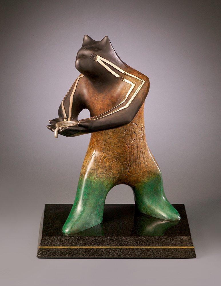 The Offering   Gene & Rebecca Tobey   Sculpture-Exposures International Gallery of Fine Art - Sedona AZ