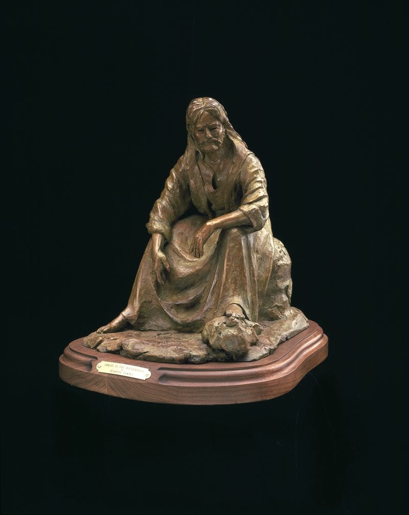 Christ In The Wilderness | Susaane Vertel | Sculpture-Exposures International Gallery of Fine Art - Sedona AZ