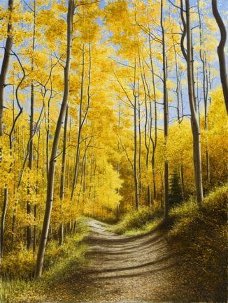 Aspen Path | Alexander Volkov | Painting-Exposures International Gallery of Fine Art - Sedona AZ