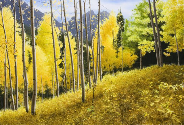 Aspen Showers | Alexander Volkov | Painting-Exposures International Gallery of Fine Art - Sedona AZ