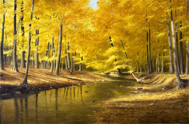 Autumn Creek | Alexander Volkov | Painting-Exposures International Gallery of Fine Art - Sedona AZ