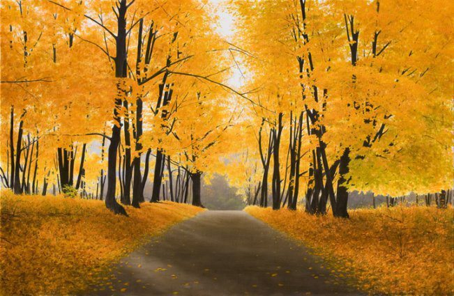 Autumn Road | Alexander Volkov | Painting-Exposures International Gallery of Fine Art - Sedona AZ