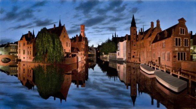 Evening In Bruges | Alexander Volkov | Painting-Exposures International Gallery of Fine Art - Sedona AZ
