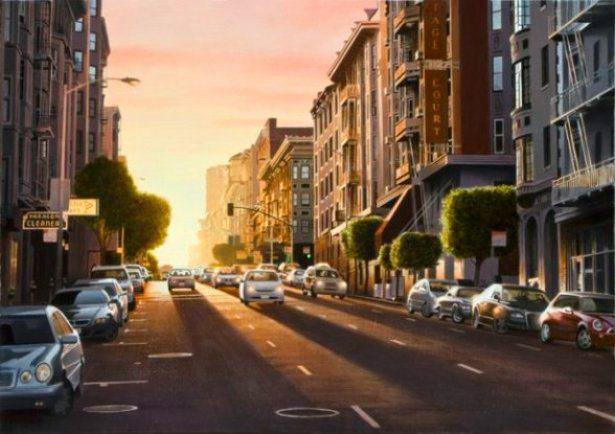Evening in San Francisco | Alexander Volkov | Painting-Exposures International Gallery of Fine Art - Sedona AZ