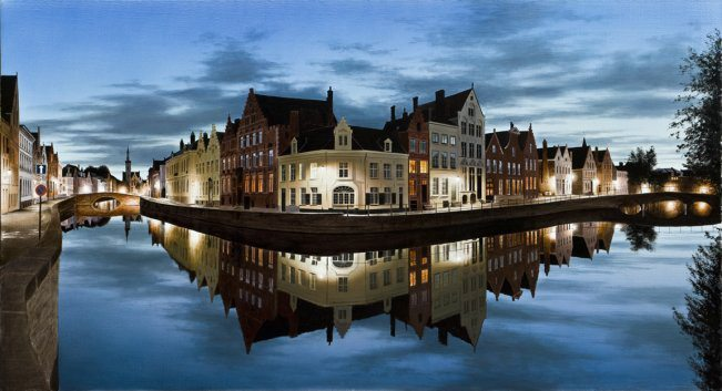 In Bruges After the Rain | Alexander Volkov | Painting-Exposures International Gallery of Fine Art - Sedona AZ