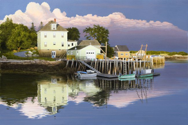 Late Evening in Maine | Alexander Volkov | Painting-Exposures International Gallery of Fine Art - Sedona AZ
