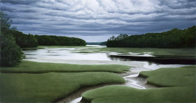 Low Tide   Alexander Volkov   Painting-Exposures International Gallery of Fine Art - Sedona AZ