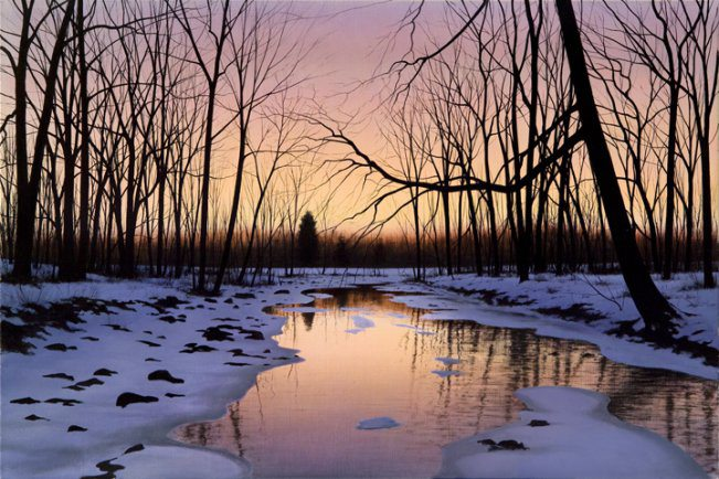 March Reflections | Alexander Volkov | Painting-Exposures International Gallery of Fine Art - Sedona AZ
