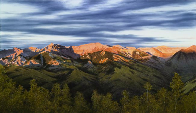 Night Flight Over Telluride | Alexander Volkov | Painting-Exposures International Gallery of Fine Art - Sedona AZ