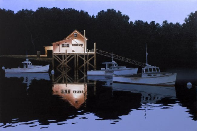 Night Harbor   Alexander Volkov   Painting-Exposures International Gallery of Fine Art - Sedona AZ