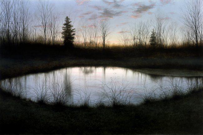 Night Pond | Alexander Volkov | Painting-Exposures International Gallery of Fine Art - Sedona AZ