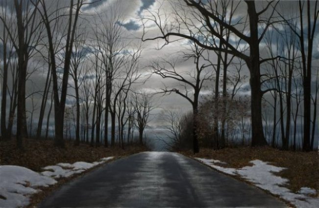 Night Road | Alexander Volkov | Painting-Exposures International Gallery of Fine Art - Sedona AZ