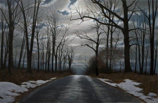 Night Road   Alexander Volkov   Painting-Exposures International Gallery of Fine Art - Sedona AZ