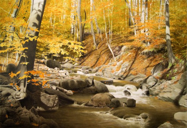 October Creek | Alexander Volkov | Painting-Exposures International Gallery of Fine Art - Sedona AZ