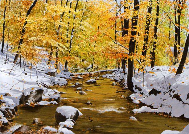 October Snowfall | Alexander Volkov | Painting-Exposures International Gallery of Fine Art - Sedona AZ