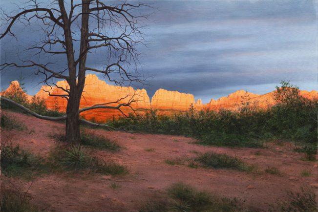 Sedona Sunset Exposures International Gallery Of Fine Art
