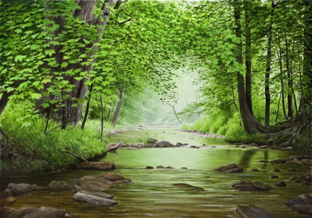 Summer Creek | Alexander Volkov | Painting-Exposures International Gallery of Fine Art - Sedona AZ