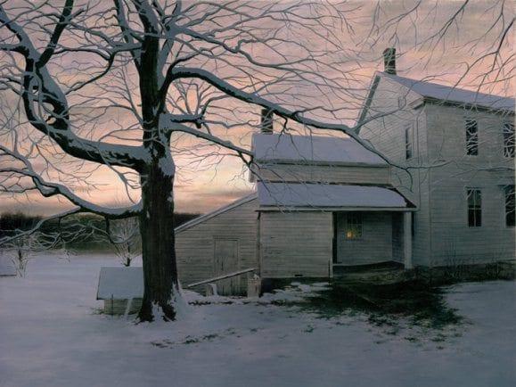 Winter Dusk | Alexander Volkov | Painting-Exposures International Gallery of Fine Art - Sedona AZ