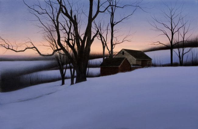 Winter Homestead | Alexander Volkov | Painting-Exposures International Gallery of Fine Art - Sedona AZ