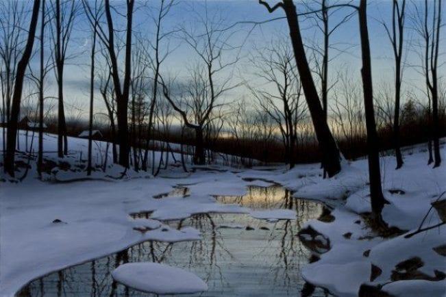 Winter's Twilight | Alexander Volkov | Painting-Exposures International Gallery of Fine Art - Sedona AZ