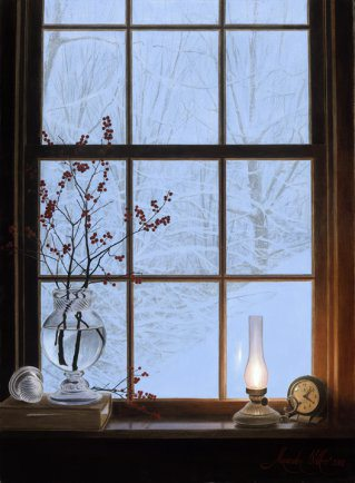 Winter Window | Alexander Volkov | Painting-Exposures International Gallery of Fine Art - Sedona AZ