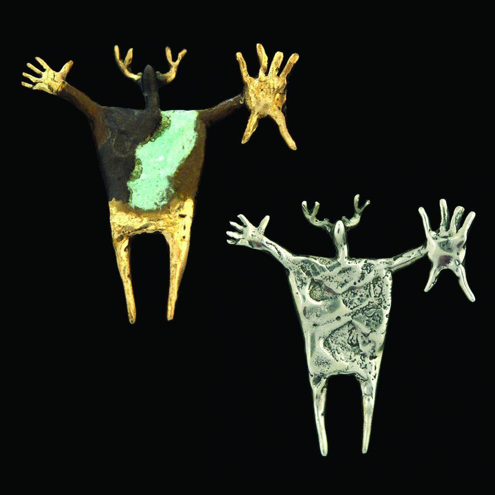 #5 Shaman with Sacred Plumed Shield | Bill Worrell | Jewelry-Exposures International Gallery of Fine Art - Sedona AZ