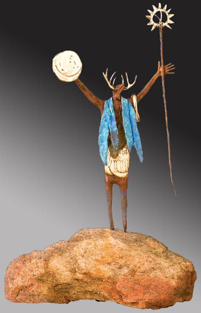 Prayers to The Maker of The Moon | Bill Worrell | Sculpture-Exposures International Gallery of Fine Art - Sedona AZ