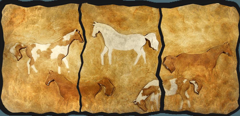 Brent & Luke Lawrence Horse Triptych Exposures International