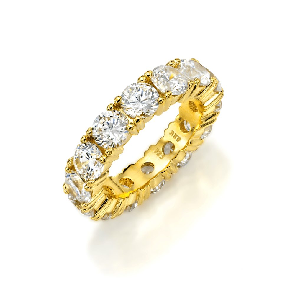 """""""18 KGP 5mm Round Eternity Ring Band"""""""