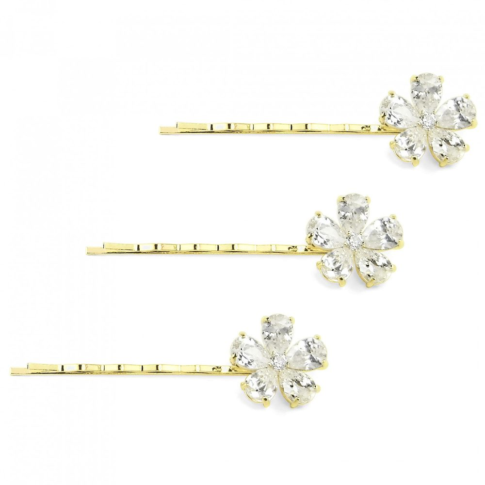 18 KGP Set of 3 Flat Hair Pins | Bling By Wilkening | Jewelry-Exposures International Gallery of Fine Art - Sedona AZ