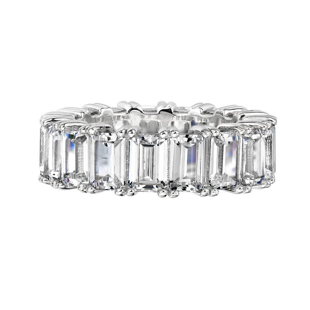 Bling By Wilkening Silver Emerald Cut Ring