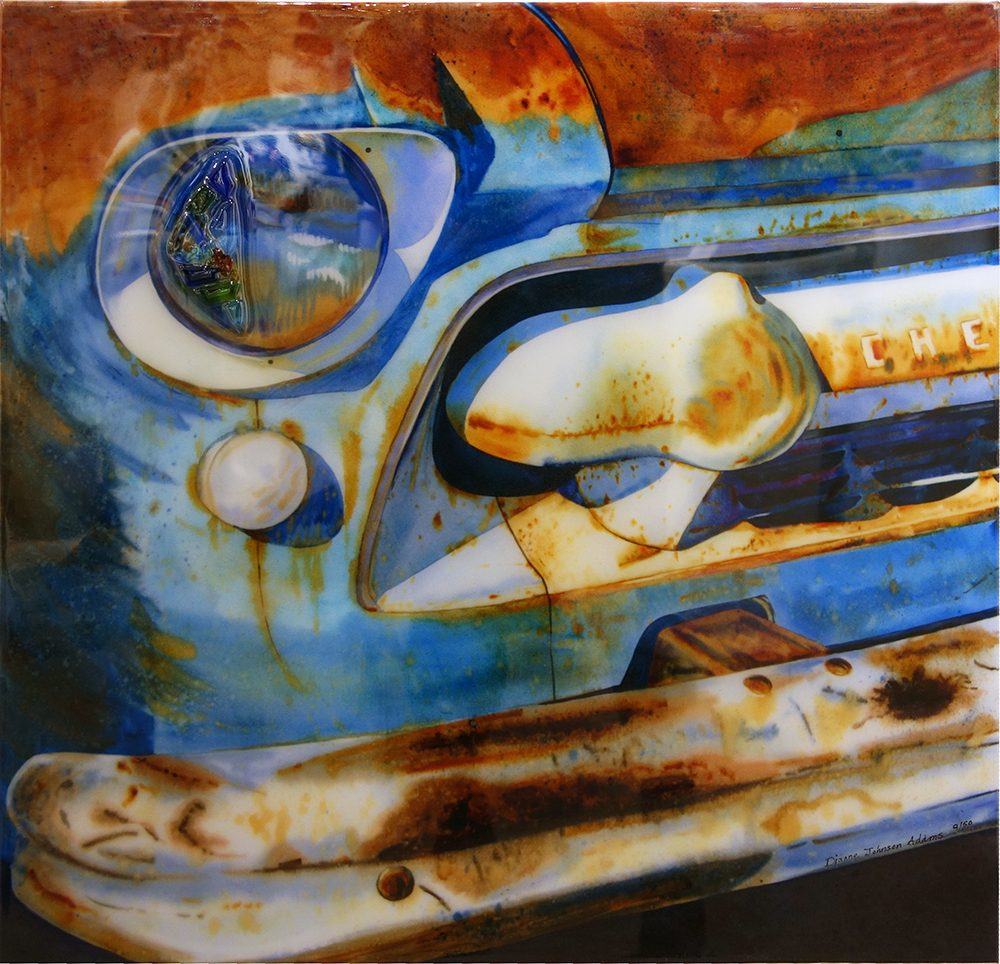 Old Chevy Blue | Dianne Adams | Painting-Exposures International Gallery of Fine Art - Sedona AZ