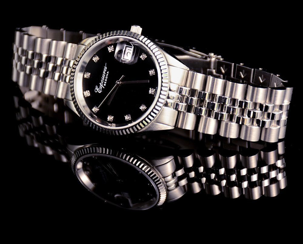 Expoures Mens Watch with Diamonds